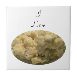 I Love Potato Salad Small Square Tile