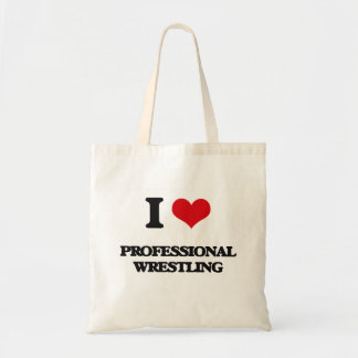 I Love Professional Wrestling Canvas Bags