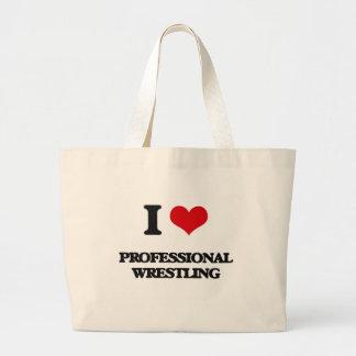 I Love Professional Wrestling Tote Bag