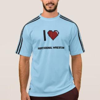 I Love Professional Wrestling Digital Retro Design Tshirts