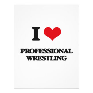 I Love Professional Wrestling Flyers