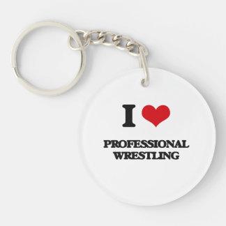 I Love Professional Wrestling Keychains