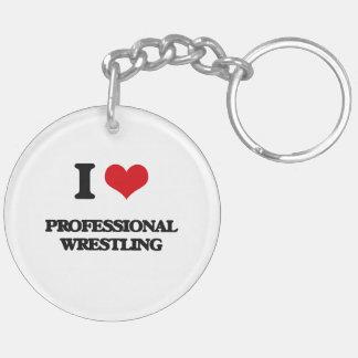 I Love Professional Wrestling Acrylic Keychains
