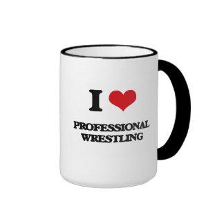 I Love Professional Wrestling Mugs