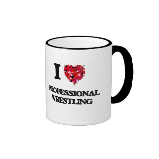 I Love Professional Wrestling Ringer Mug