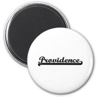 I love Providence Rhode Island Classic Design 6 Cm Round Magnet