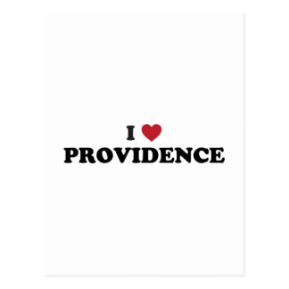 I Love Providence Rhode Island Postcard