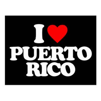 I LOVE PUERTO RICO POST CARDS