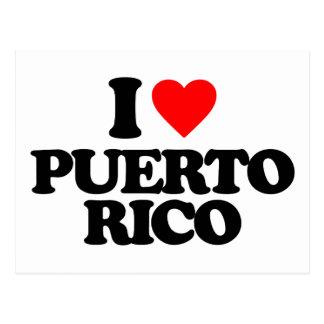 I LOVE PUERTO RICO POSTCARDS