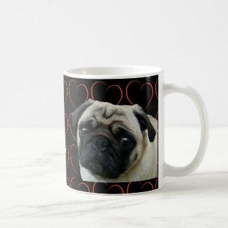 I Love Pugs with Hearts Classic White Coffee Mug