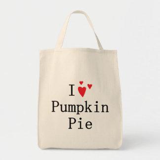 I love Pumpkin Pie Tote Bags