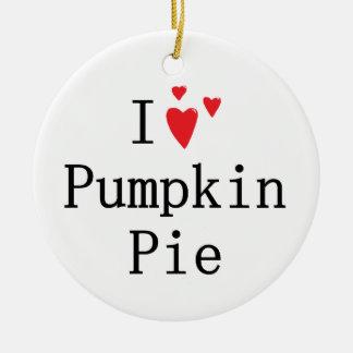 I love Pumpkin Pie Ornaments