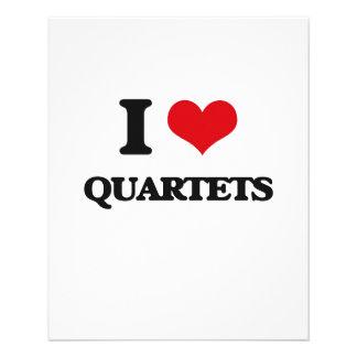 I Love Quartets Flyers