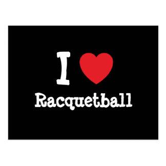I love Racquetball heart custom personalized Postcard