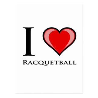 I Love Racquetball Postcard