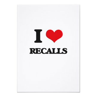 I Love Recalls 13 Cm X 18 Cm Invitation Card