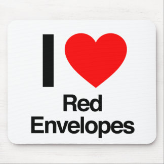i love red envelopes mousepads