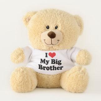 I Love (Red Heart) My Big Brother Teddy Bear