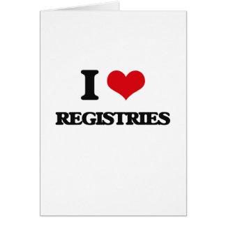 I Love Registries Greeting Card