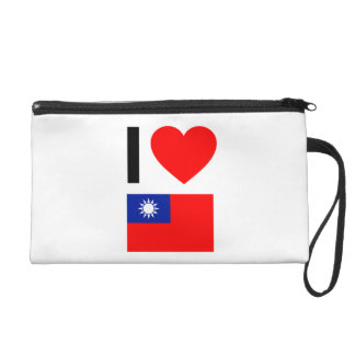 i love republic of china wristlet clutches