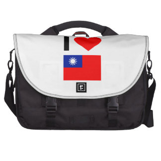 i love republic of china laptop bags