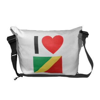 i love republic of the congo commuter bag