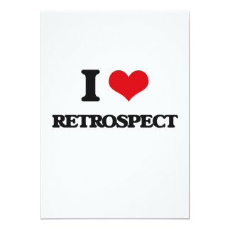 I Love Retrospect 13 Cm X 18 Cm Invitation Card
