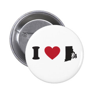 I Love Rhode Island 6 Cm Round Badge