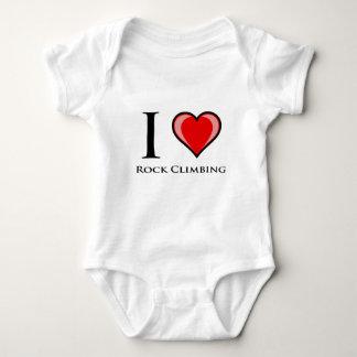 I Love Rock Climbing Baby Bodysuit