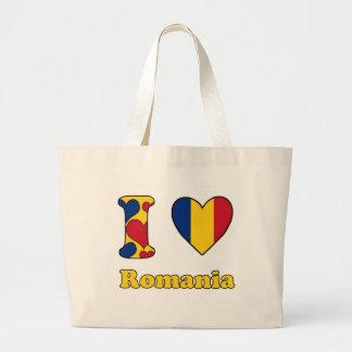 I love Romania Large Tote Bag