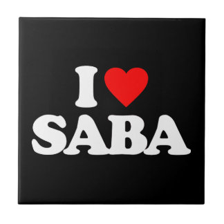 I LOVE SABA SMALL SQUARE TILE