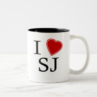I Love Saint John's Two-Tone Coffee Mug