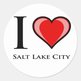 I Love Salt Lake City Classic Round Sticker