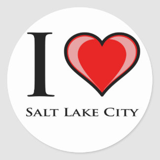 I Love Salt Lake City Round Sticker