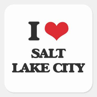I love Salt Lake City Square Sticker