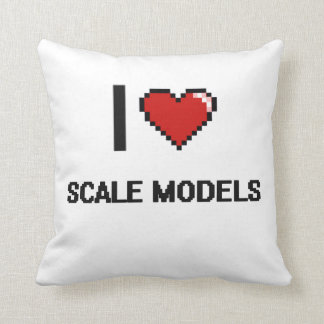 I Love Scale Models Digital Retro Design Cushion