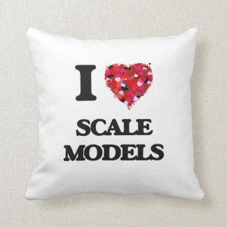 I Love Scale Models Throw Cushions
