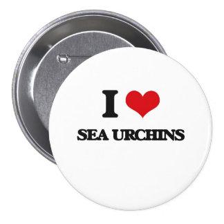 I love Sea Urchins 3 Inch Round Button