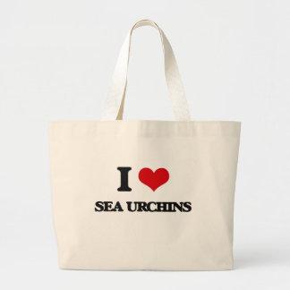 I love Sea Urchins Canvas Bags