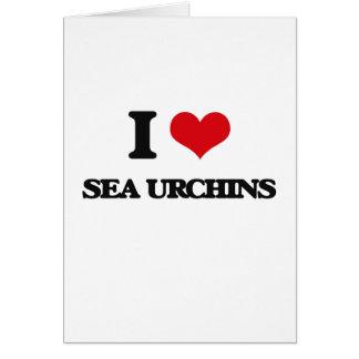 I love Sea Urchins Card