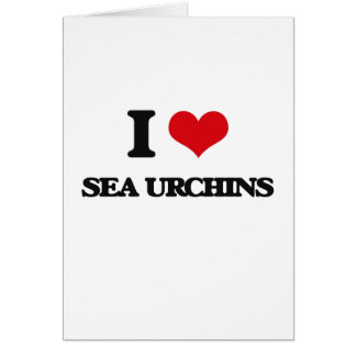 I love Sea Urchins Greeting Card