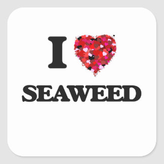 I Love Seaweed food design Square Sticker