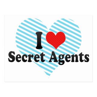 I Love Secret Agents Post Cards