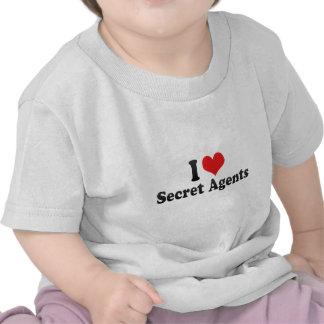 I Love Secret Agents Tee Shirt