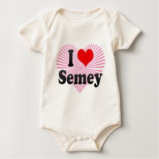 I Love Semey, Kazakhstan Baby Bodysuit