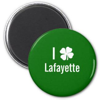 I love (shamrock) Lafayette St Patricks Day Magnet