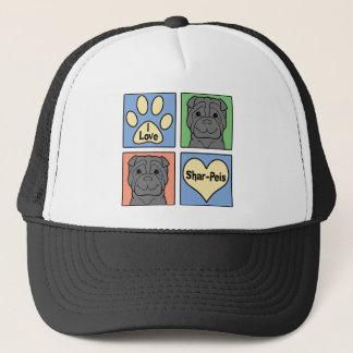 I Love Shar-Peis Trucker Hat