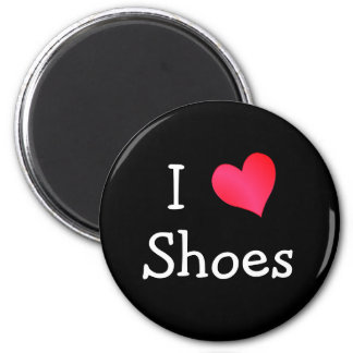 I Love Shoes 6 Cm Round Magnet
