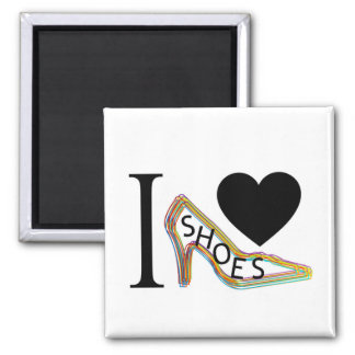 I love shoes square magnet