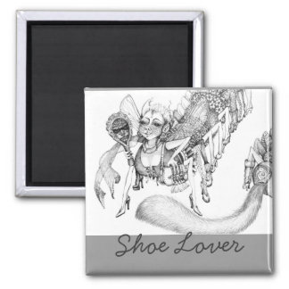 I love shoes! square magnet
